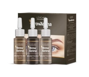 Zestaw do henny Brown BH Brow Henna 3 szt