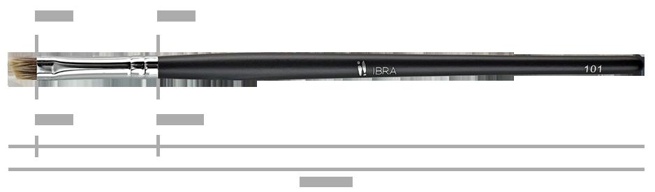 Pędzel nr 101 IBRA Makeup