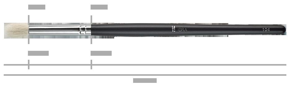 Pędzel do cieni IBRA Makeup nr 104